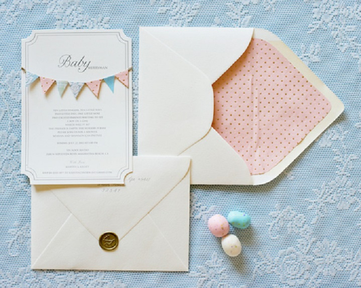 carte d'invitation baby shower