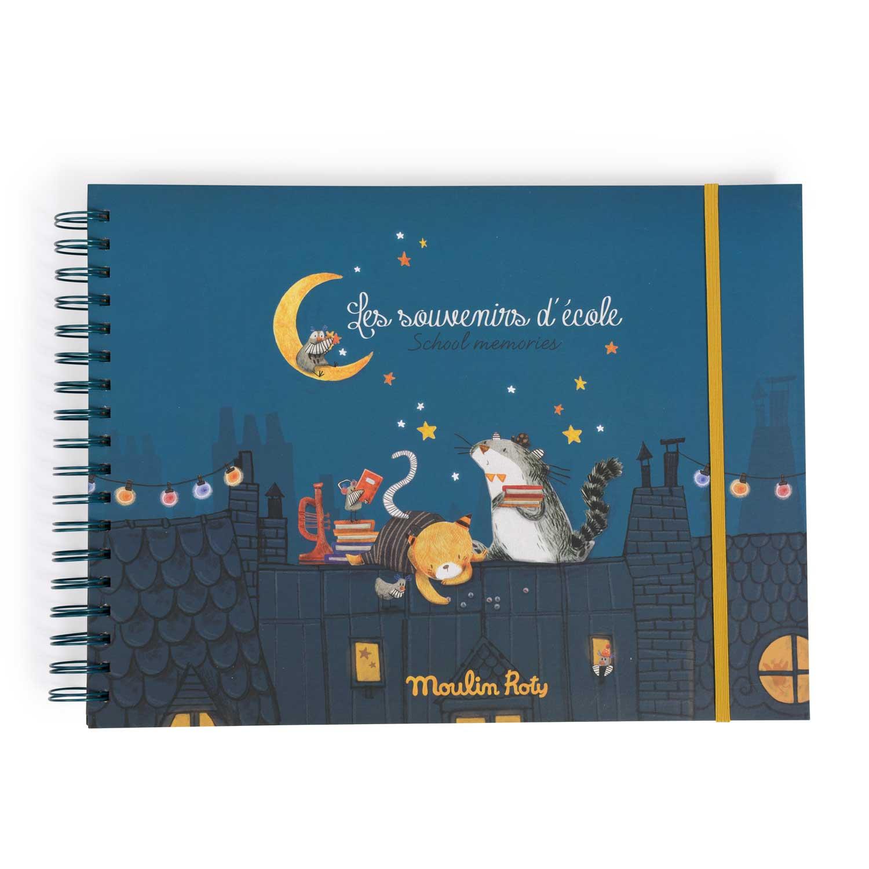 Album souvenirs d'école Français Anglais Les Moustaches Moulin Roty