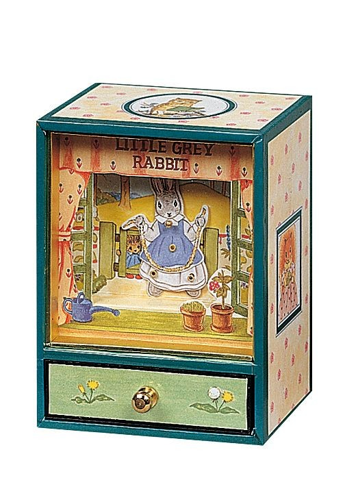 trousselier dancing musical little grey rabbit
