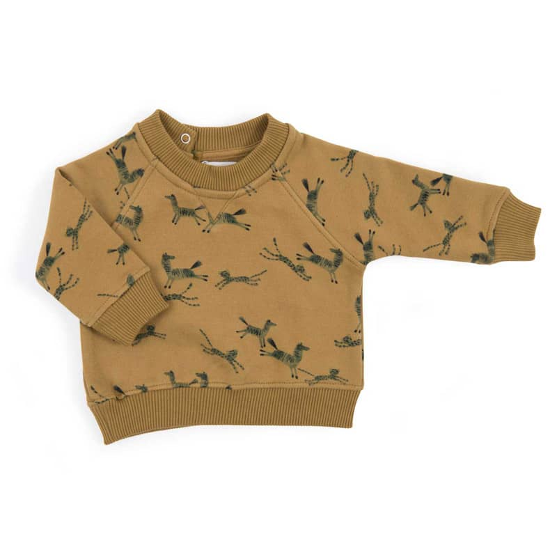 Clovis Sweat-Shirt Bronze Imprimé Animaux Sous Mon Baobab 3 mois Moulin Roty