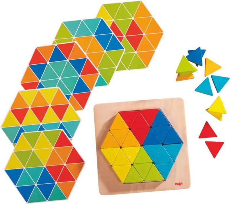 Jeu d'assemblage Triangles magiques Haba