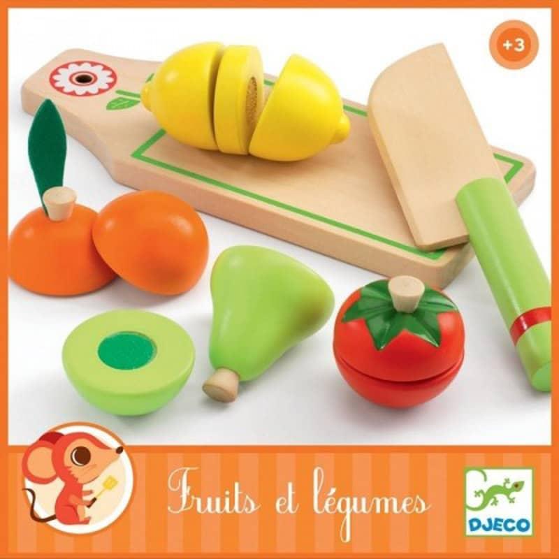 Jouet d'imitation Fruits et légumes à couper Djeco