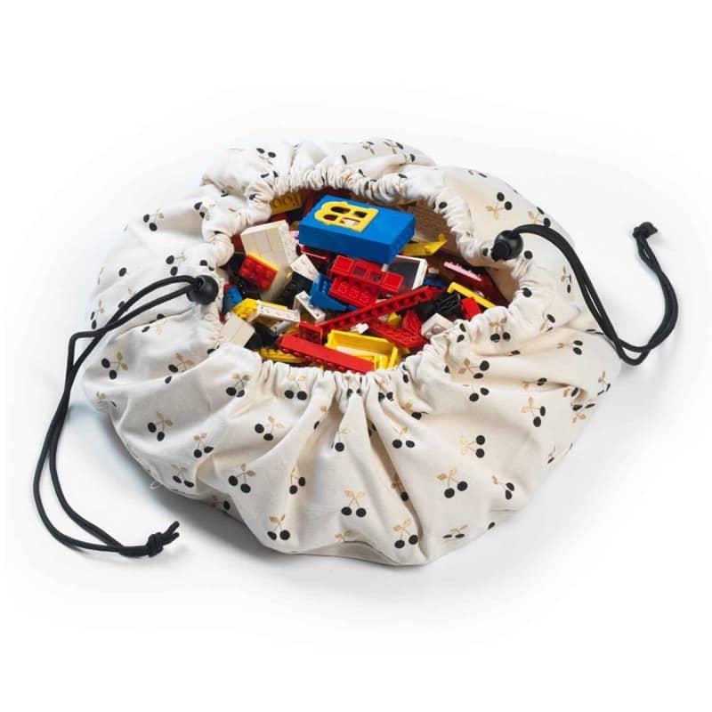Mini sac à jouets et tapis de jeux 2 en 1 Cerise en or Play and Go