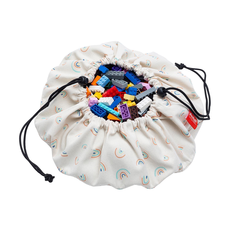 Mini sac à jouets et tapis de jeux 2 en 1 Arc-en-ciel Play and Go
