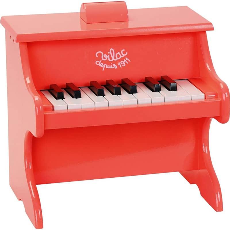 Piano Crazy orange 18 touches avec partitions Vilac