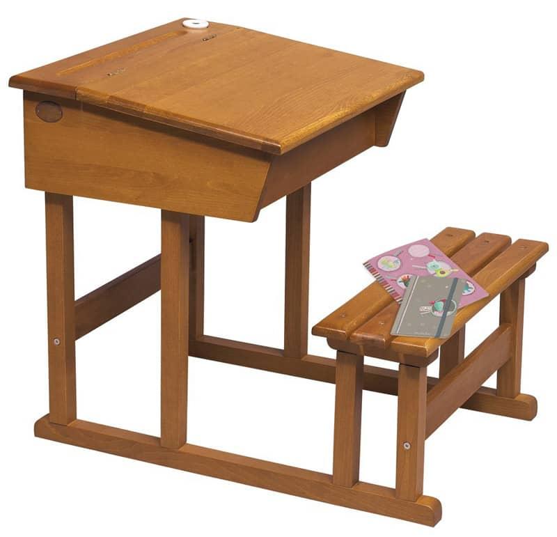 Pupitre d'écolier en bois Les Jouets d'hier Moulin Roty