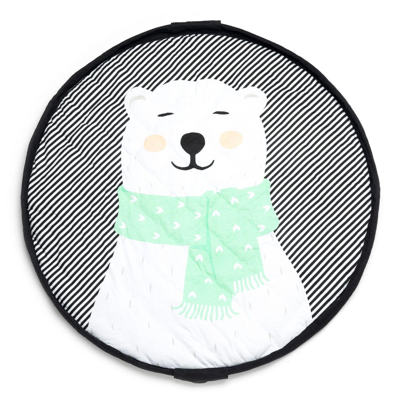 Sac de rangement de jouets et tapis de jeux bébé Soft Ours Polaire Play & Go