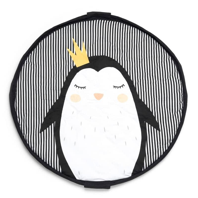 Sac de rangement de jouets et tapis de jeux bébé Soft Pingouin Play & Go