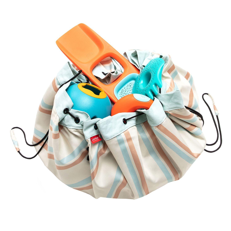 Sac à jouets et tapis de jeux 2 en 1 imperméable rayé Play and Go