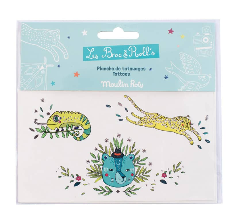 Tatouages animaux sauvages Les Broc' & Rolls Moulin Roty