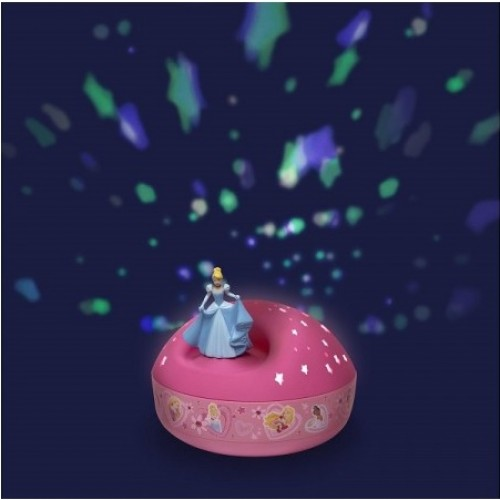 Veilleuse Projecteur d'Etoiles Musical Cendrillon / Disney Princess Trousselier
