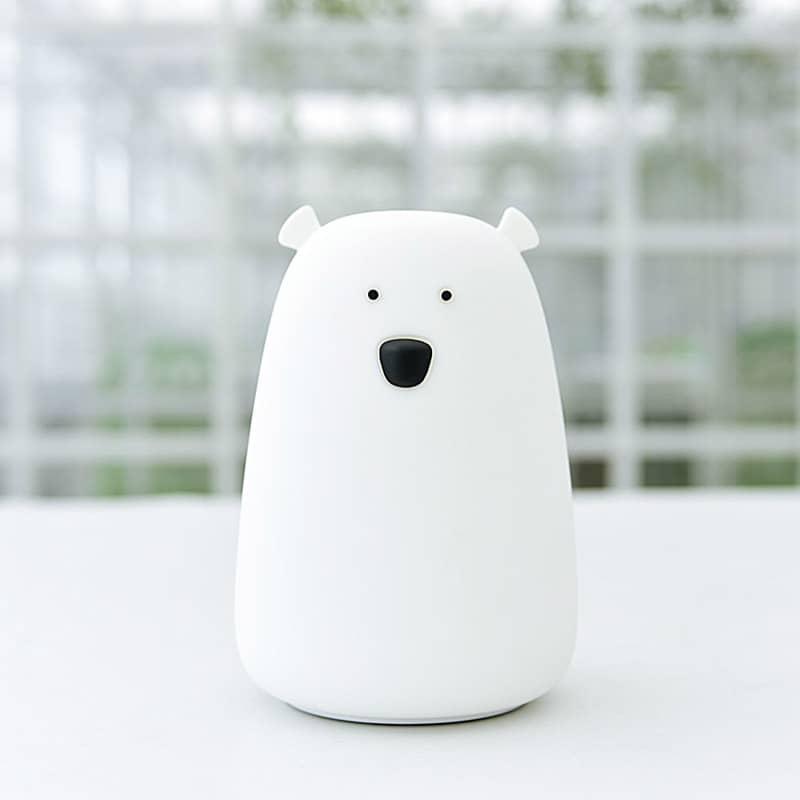 Veilleuse ours Big'bear Blanc Little L